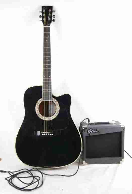 Esteban Guitar Package : esteban, guitar, package, Esteban, Dreadnought, Electro-Acoustic, Guitar, Package, California, Auctioneers