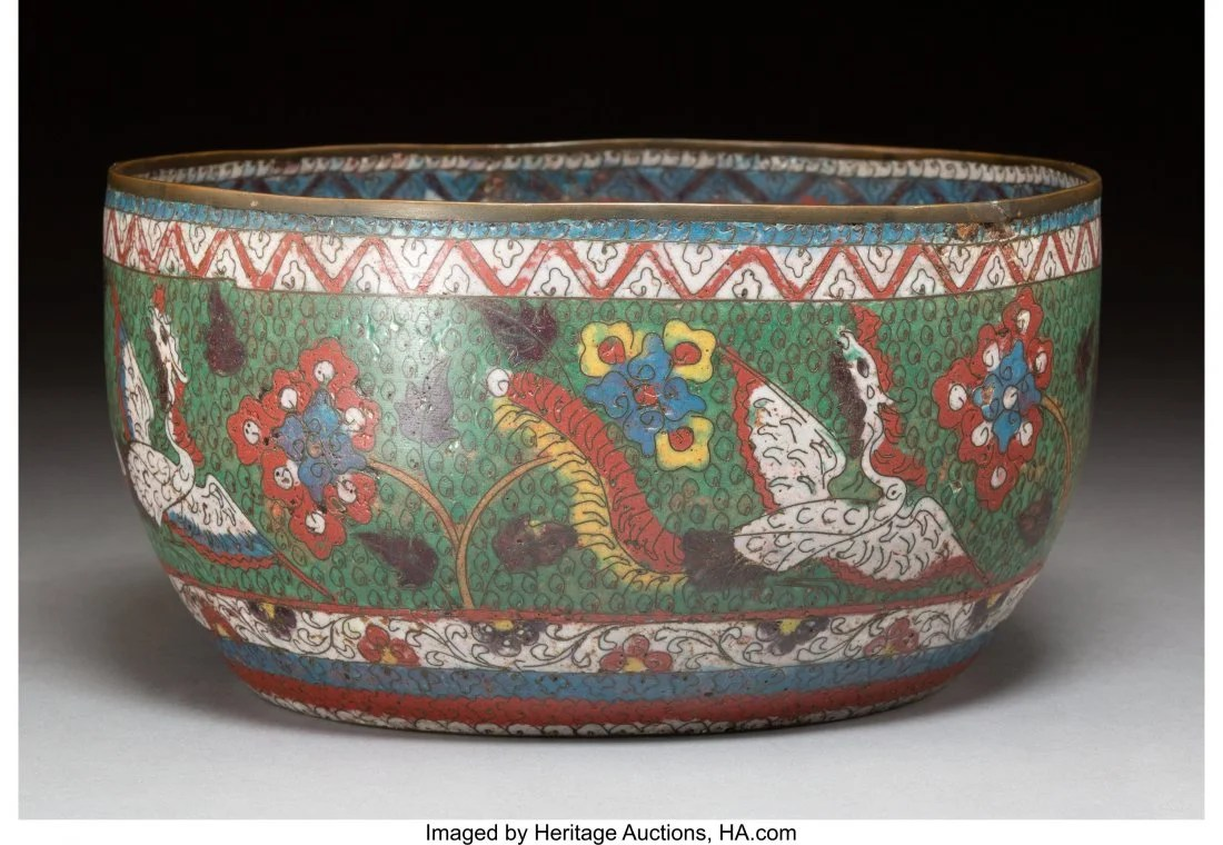 78143: A Chinese Cloisonné Bowl, Ming Dynasty 5