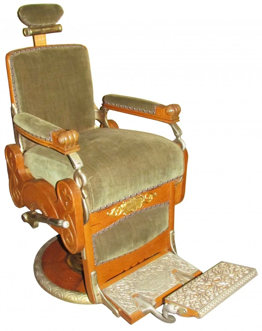 Koken Barber Chairs 1890 S Koken Barber Chair Apr 13 2013 Showtime Auction Services In Mi On Liveauctioneers