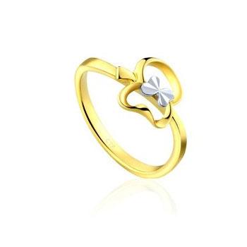 【周大福18k兩色金戒指】怎么樣|價格|評測|試用圖片