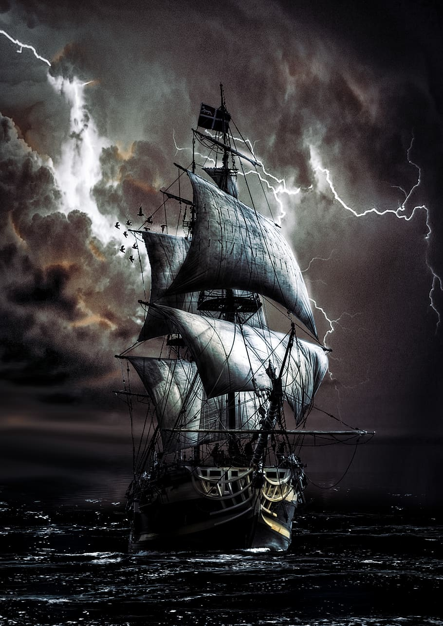 Pirate Ship Storm : pirate, storm, Royalty-free, Pirate, Photos, Download, Pxfuel