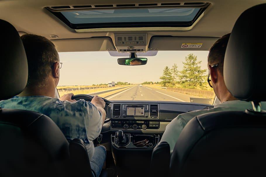 auto, exit, drive, tour, steering, driver, passenger, highway, monotonous, dashboard