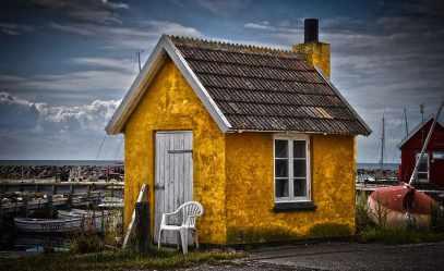 casa de pescadores cabaña casa amarilla antigua arquitectura exterior del edificio estructura construida edificio nube cielo casa Pxfuel