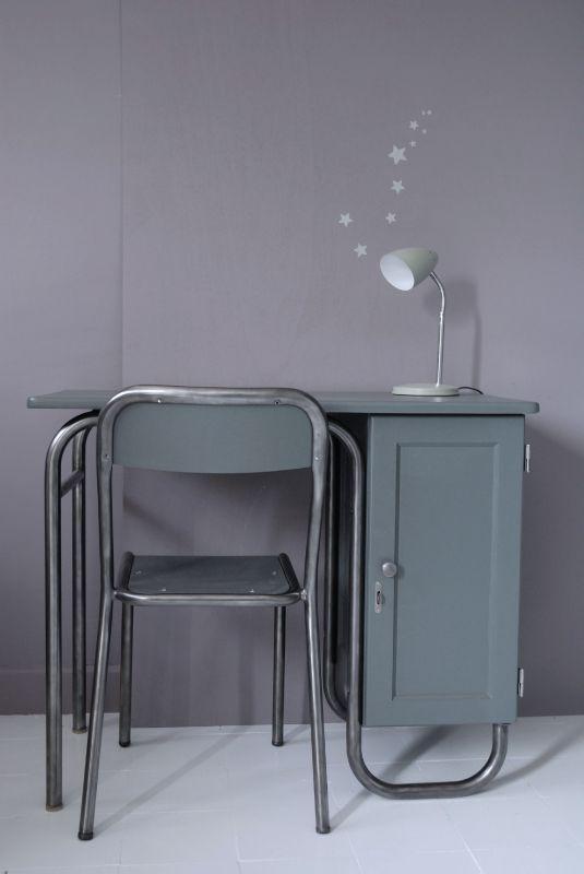 Bureau Matre D Cole Et Sa Chaise Atelier Vintage