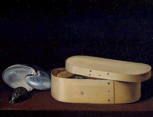 Coquillages et boite de copeaux - hst , 47 x 59,4cm - Métropolitan museum , New-York