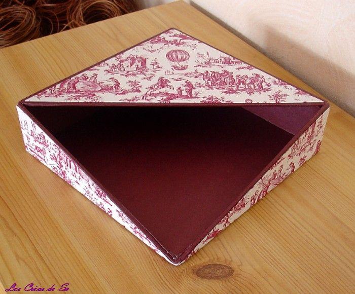 Une boite  serviette en cartonnage  LES CREAS DE SO