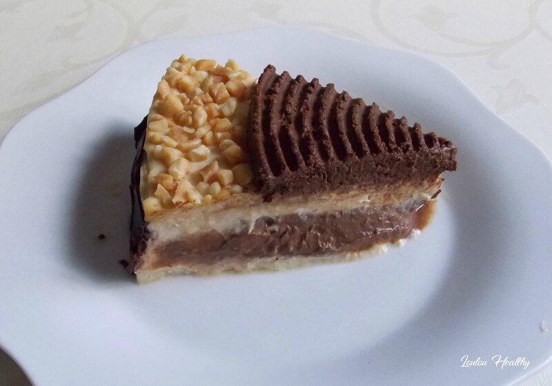entremet glacé beurre de cacahuète, chocolat potiron3