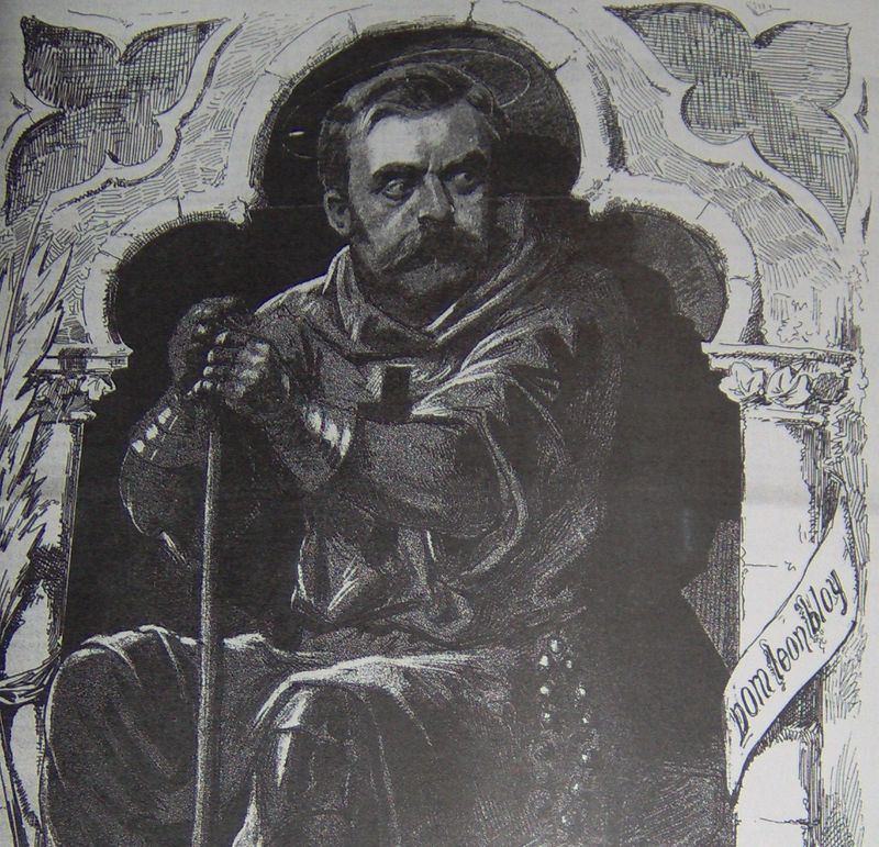 Léon Bloy, entrepreneur en démolition, dessin de Steinlen