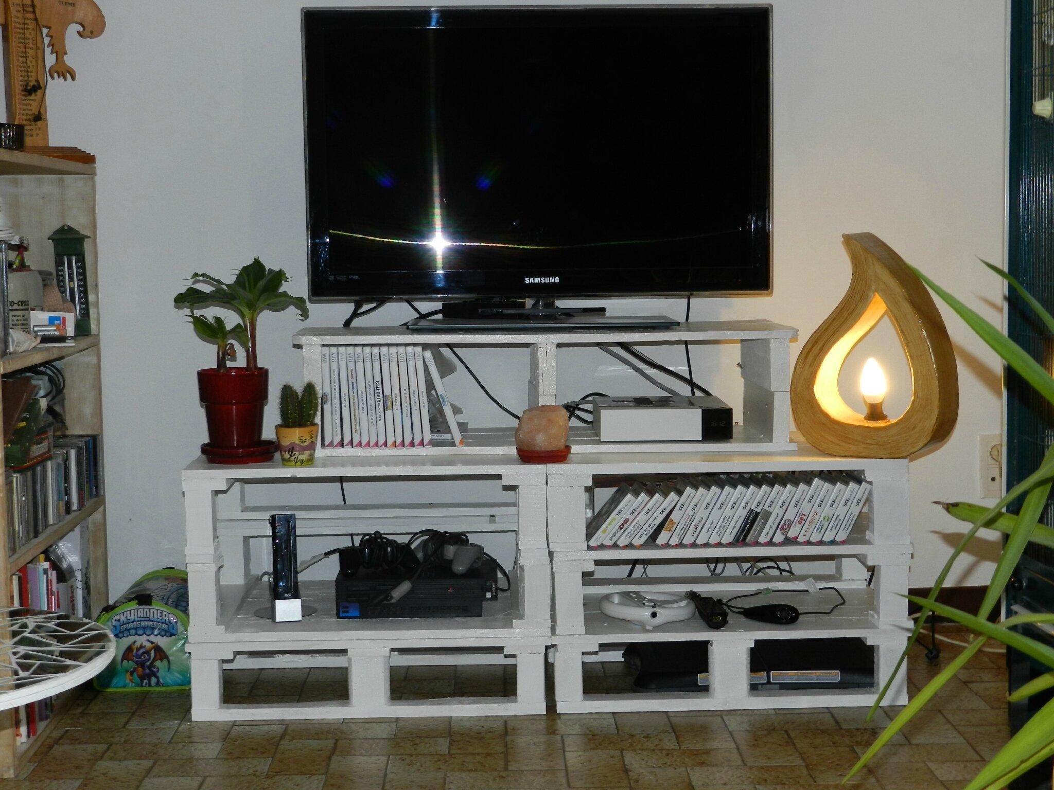 meuble tv en palette le blog note de stef