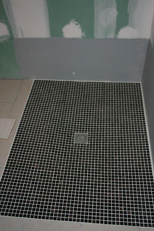 Fin sol douche italienne  Notre future maison  Beire le Fort