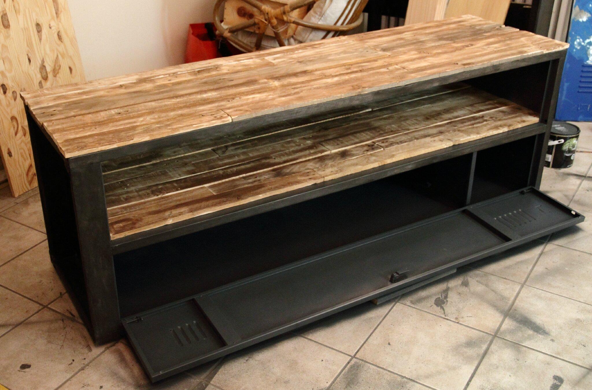 meuble tv industriel n29 volp art et mimi