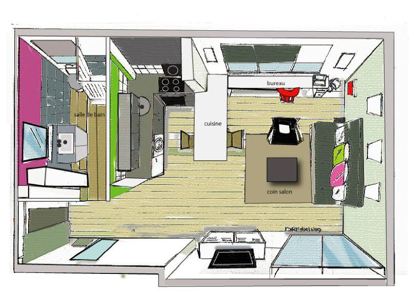 planenvolumeillustrator  Photo de Comment amnager un petit studio  la passion de lilo