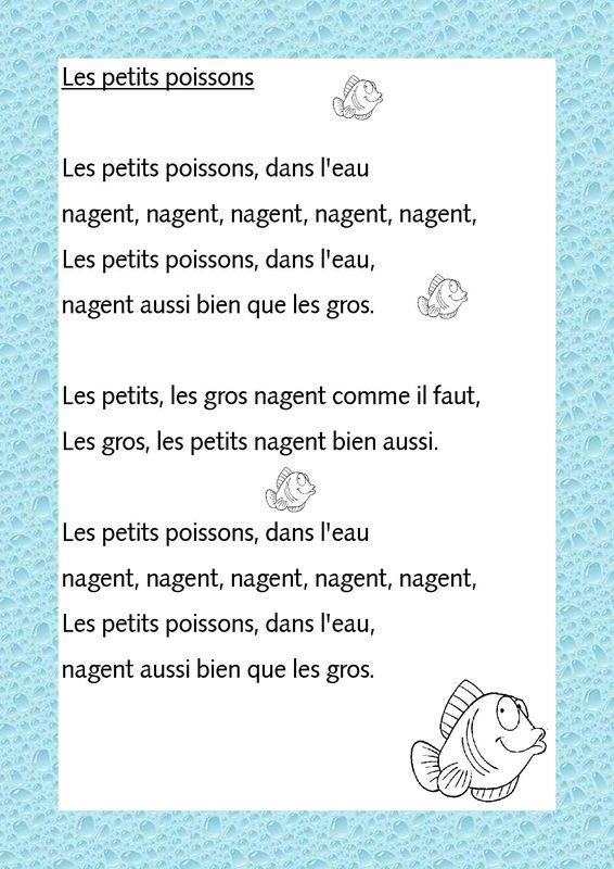 Les Petits Poissons Dans L Eau : petits, poissons, Chanson, Semaine, Petits, Poissons, L´école, Française, Cuenca