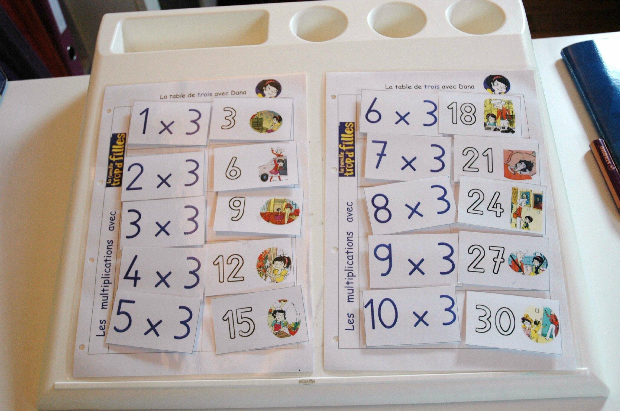tables de multiplication autisme