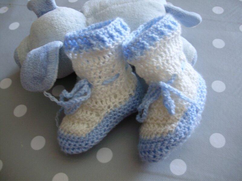 tuto gratuit chaussons bebe au crochet