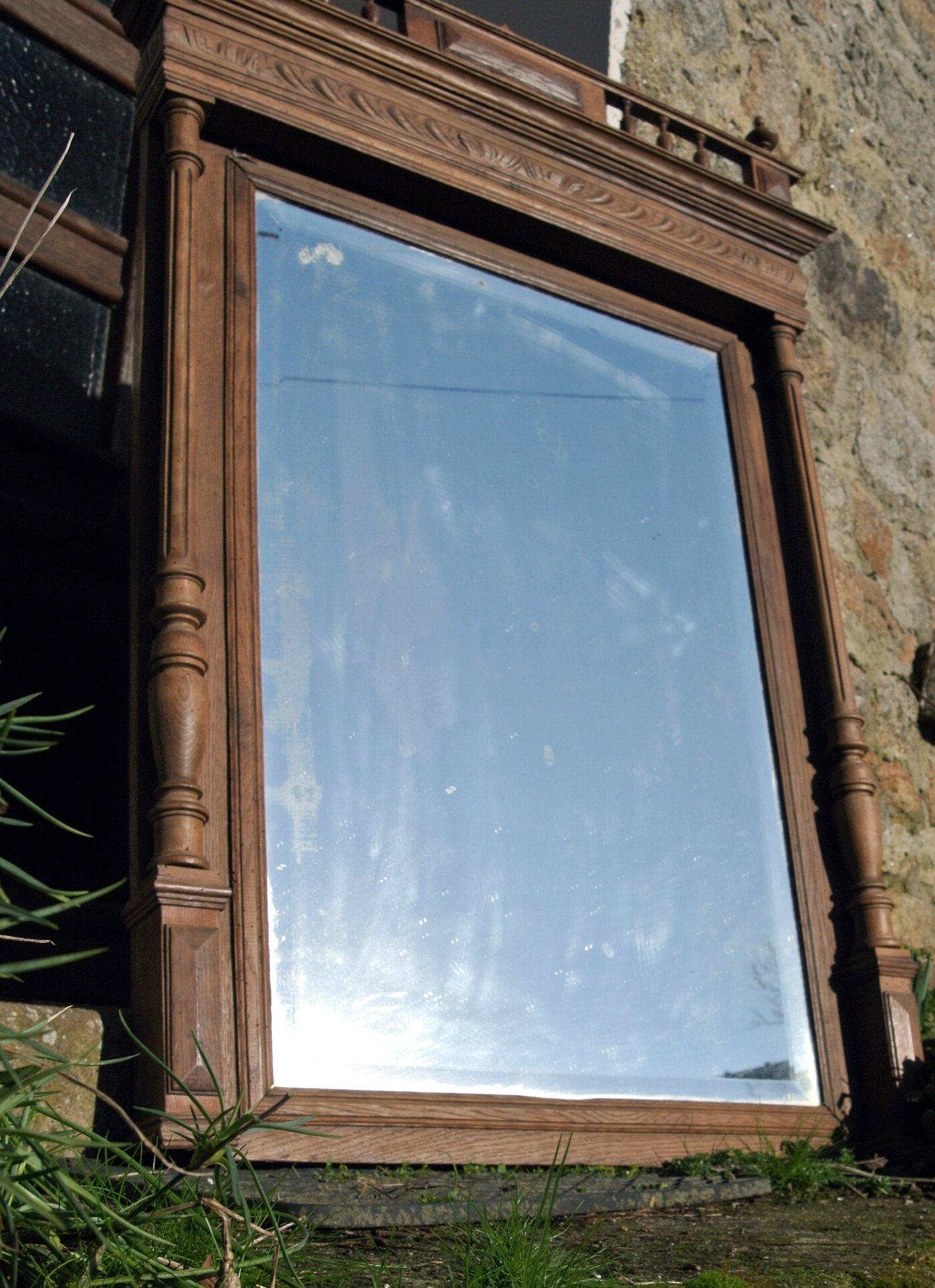 miroir cheminee galerien milt s dekor