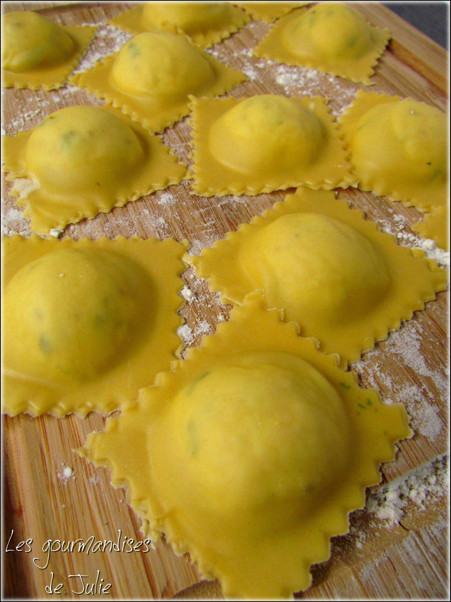 Recette Pate A Ravioli : recette, ravioli, Raviolis, Parmesan,, Basilic, Ricotta, Gourmandises, Julie