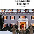 Le livre des baltimore, joël dicker