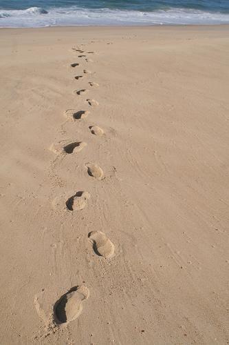Trace De Pas Dans Le Sable : trace, sable, Sable, Autre, Pensée