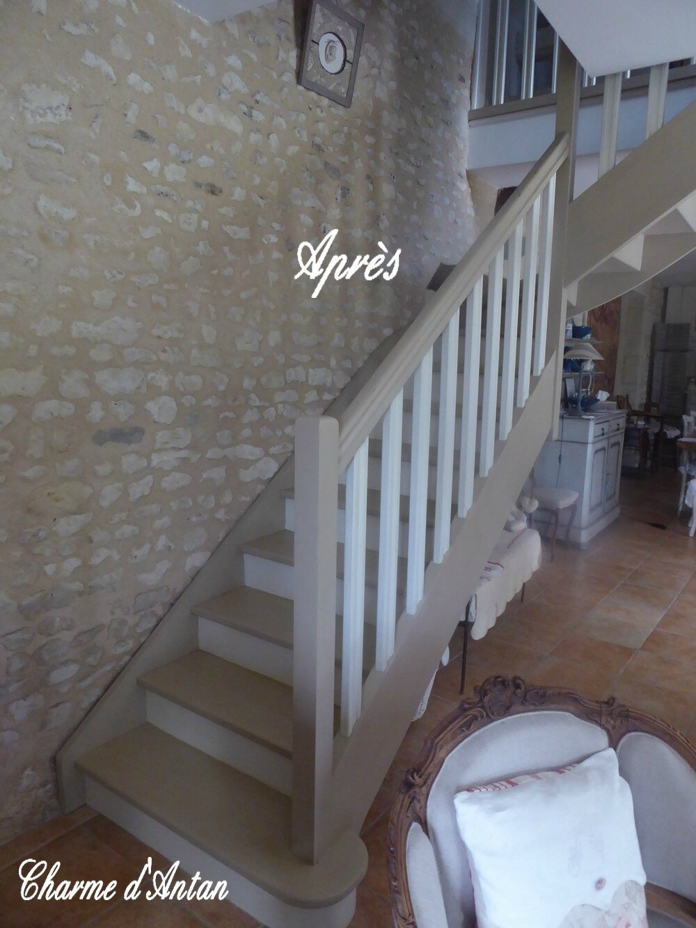 Mon Escalier Repeint Charme D Antan