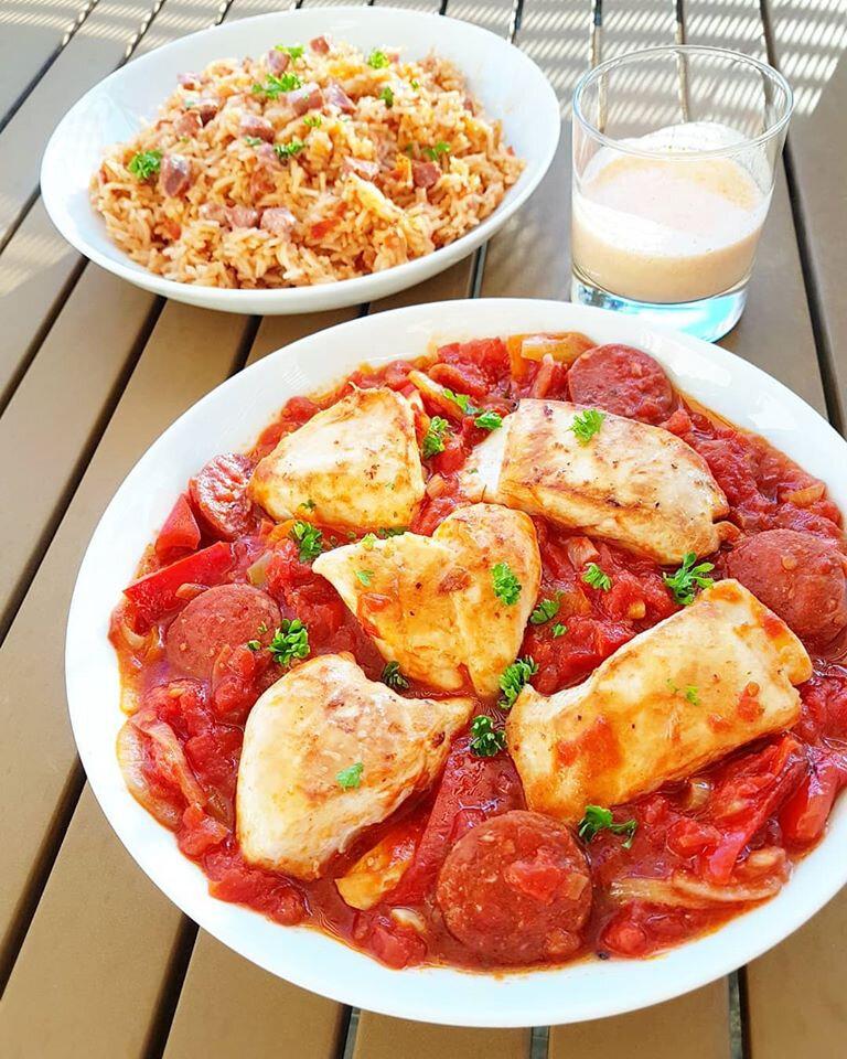 Poulet Basquaise Au Chorizo : poulet, basquaise, chorizo, Poulet, Basquaise, Chorizo, Inca..., -Chez, Cathytutu,, Défis, Lifestyle, D'une, Quinqua...
