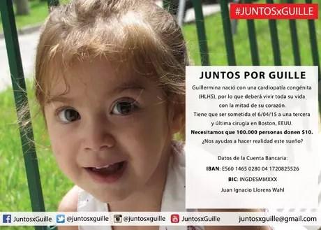 Guille necesita de la solidaridad de todos. Foto: Juntos x Guille (Facebook)