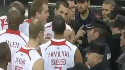 La Ertzaintza interviene en una pelea en el Bilbao-Charleroi