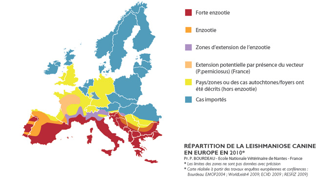 Carte leishmaniose