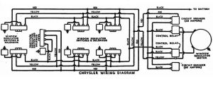 HydroElectric Window Regulator Wiring Diagram Chrysler Early 1950's  Electrical  P15D24