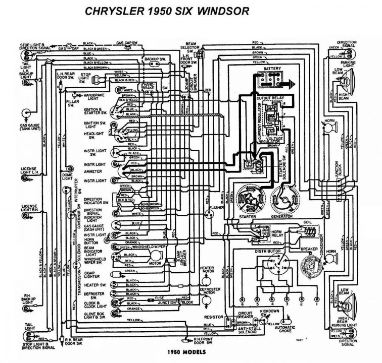 1950 Mercury Wiring Harness Electrical Wiring Diagram 1950 Chrysler Windsor