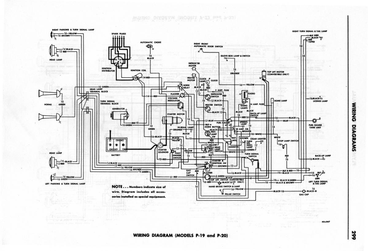 [WRG-7265] 1950 Plymouth Deluxe Wiring Diagram