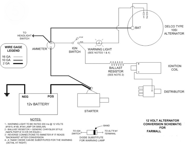 6 volt battery wiring diagram for coach international harvester 6 volt battery wiring diagram