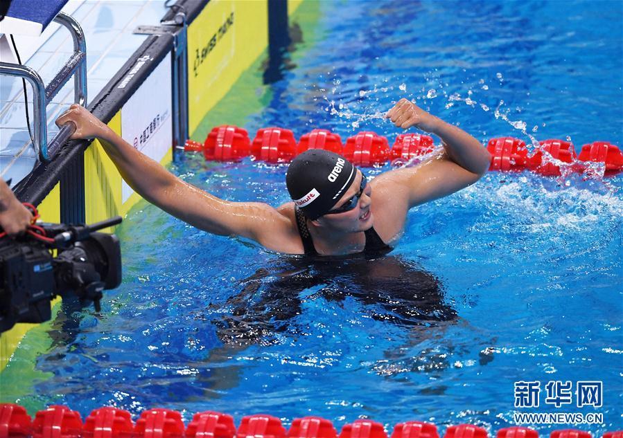 全國游泳冠軍賽:王簡嘉禾破女子1500米自由泳亞洲紀錄 - 國際在線移動版