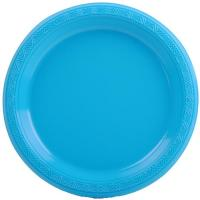 Wholesale Teal Plastic Snack Party Plate 7""""""""