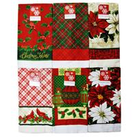 kitchen towels wholesale brizo venuto faucet christmas towel collection 6 assorted desi glw
