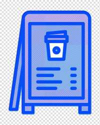 Coffee icon Menu icon Restaurant menu icon Electric Blue transparent background PNG clipart HiClipart