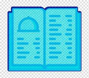Menu icon Restaurant icon Aqua Turquoise Electric Blue Rectangle transparent background PNG clipart HiClipart
