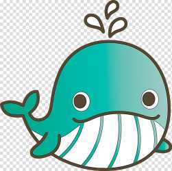 Green aqua turquoise cartoon turquoise Baby Whale Cartoon Whale transparent background PNG clipart HiClipart
