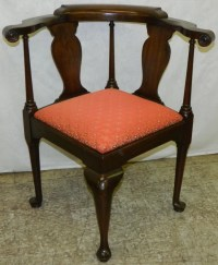 Henkel Harris mahogany corner chair. : Lot 361