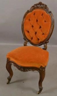 Renaissance Victorian style parlor chair : Lot 77