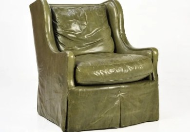 Olive Green Leather Chair