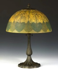 Handel Lamp with Obverse Painted & Etched Shade : Lot 682