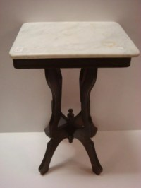 Small Marble Top Side Table: : Lot 267