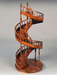 542: Large Architectural Model of Spiral Stair Case : Lot 542
