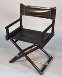 295: Leather Upholstered Director's Chair : Lot 295