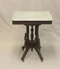 268: Small Eastlake Marble Top Table : Lot 268