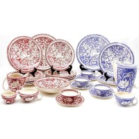 80: Vernon Kilns Hawaiian Flowers Dinnerware : Lot 80
