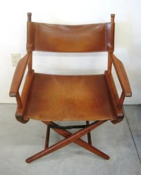 VINTAGE LEATHER DIRECTOR'S CHAIR : Lot 23A