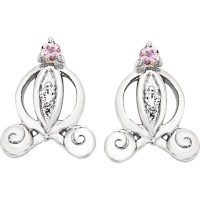 DISNEY CINDERELLA CARRIAGE EARRINGS : Lot 1073S