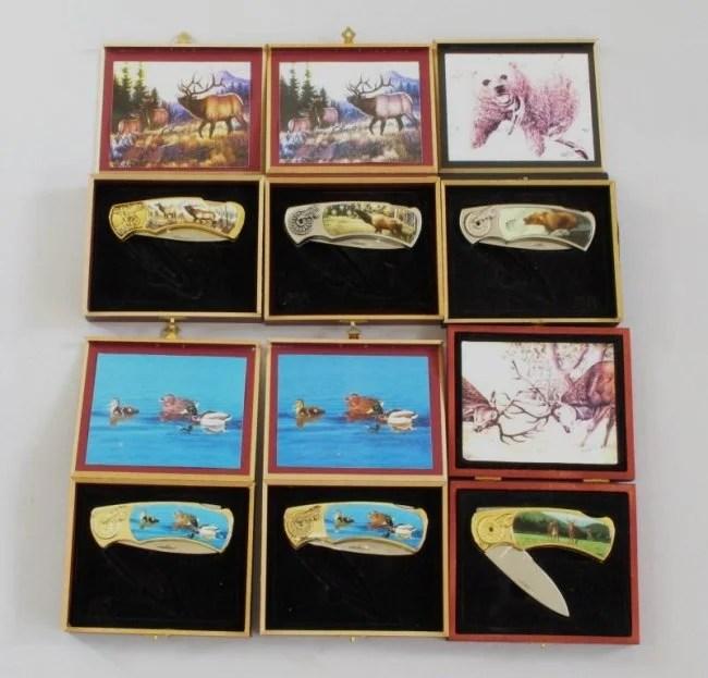 Franklin Mint Collector Knives Set